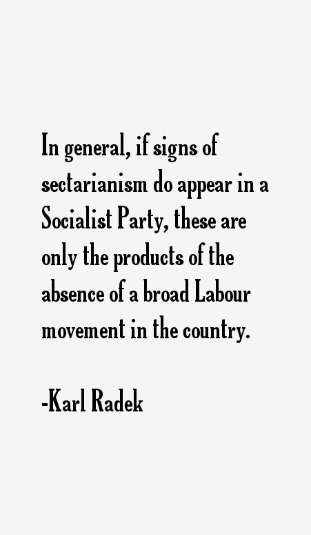 Karl Radek Quotes