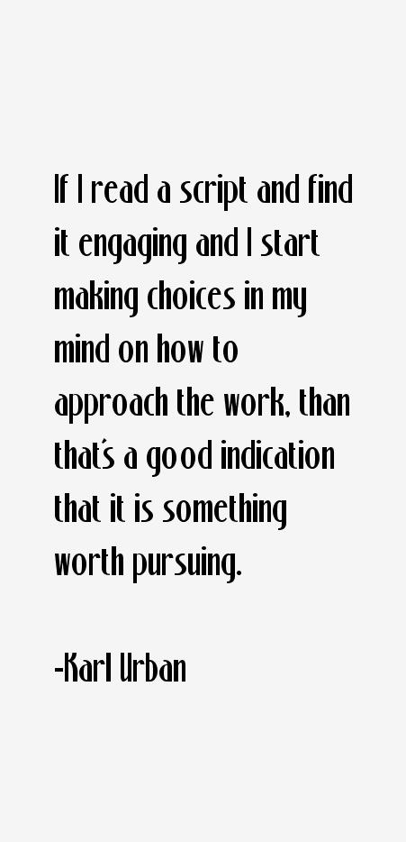 Karl Urban Quotes