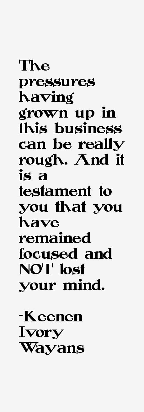 Keenen Ivory Wayans Quotes