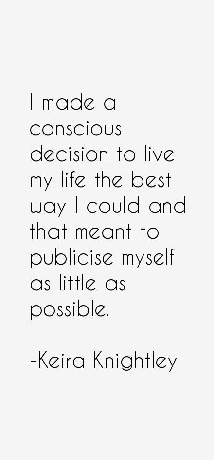 Keira Knightley Quotes