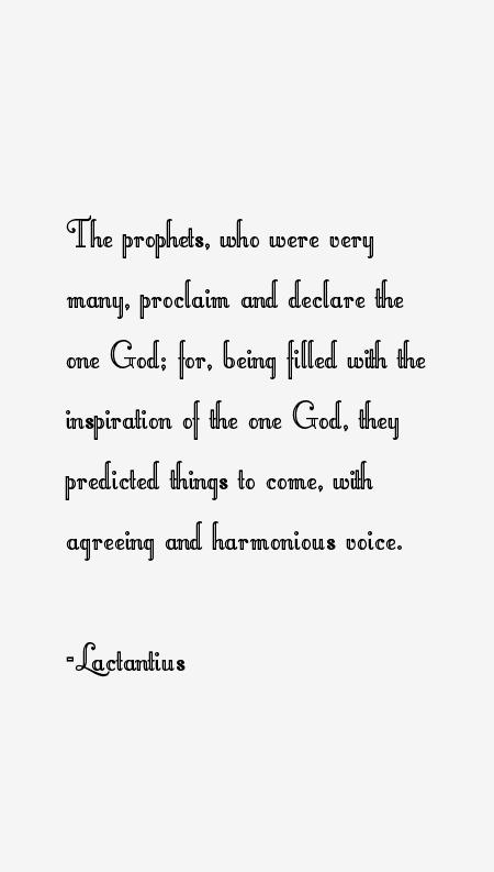 Lactantius Quotes