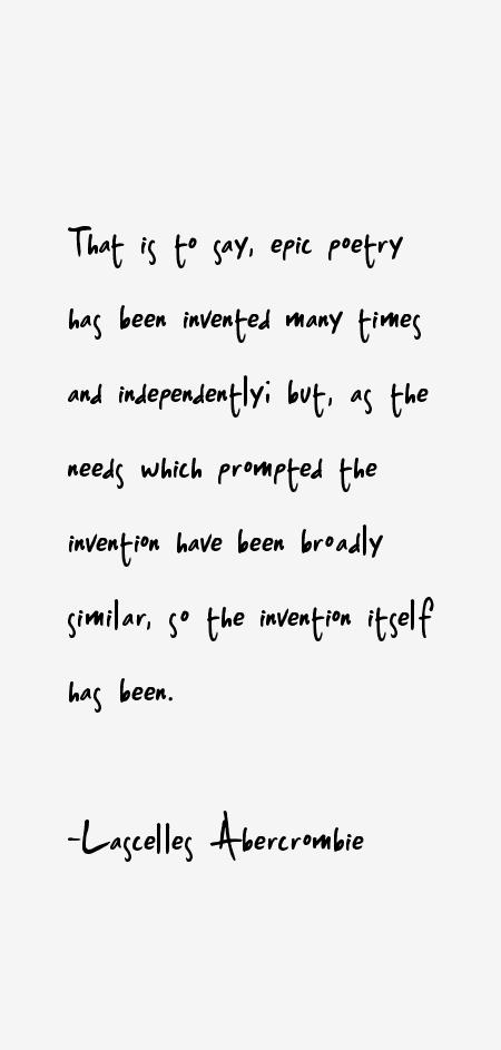 Lascelles Abercrombie Quotes