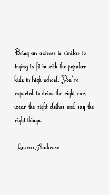 Lauren Ambrose Quotes