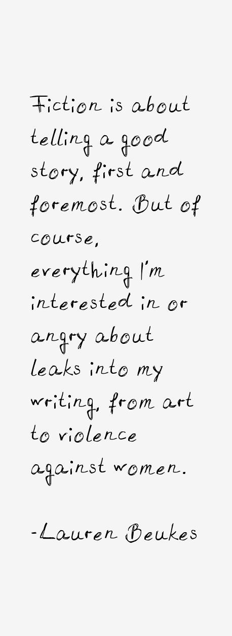 Lauren Beukes Quotes