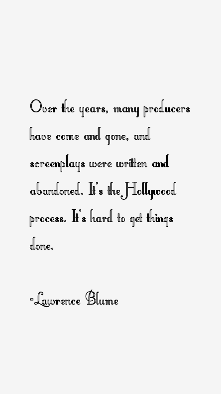Lawrence Blume Quotes