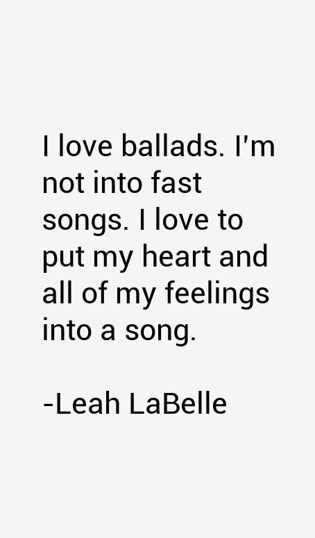Leah LaBelle Quotes