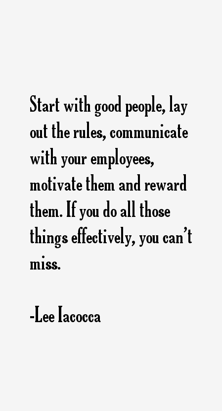 Lee Iacocca Quotes