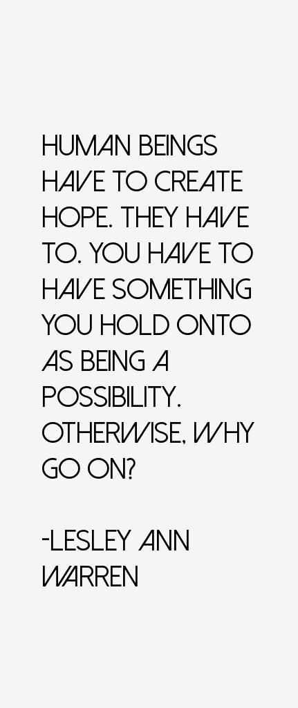 Lesley Ann Warren Quotes