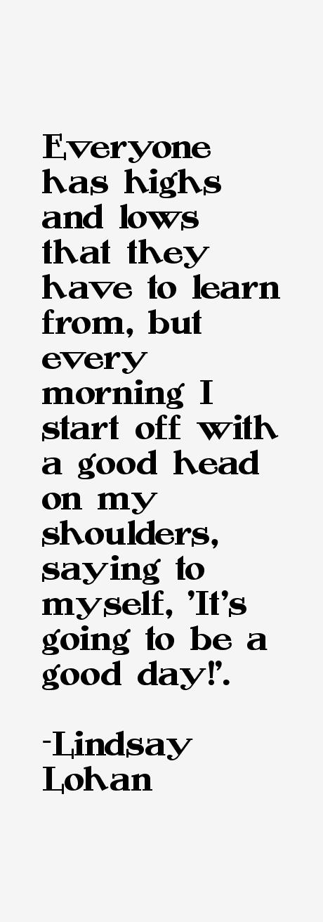 Lindsay Lohan Quotes