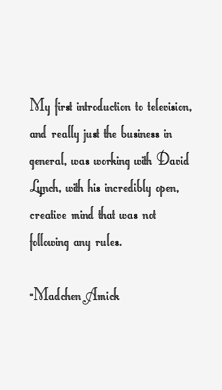 Madchen Amick Quotes