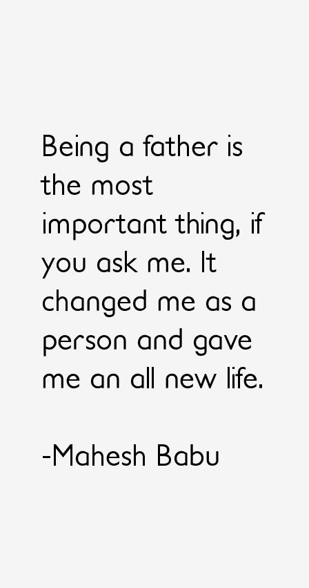 Mahesh Babu Quotes