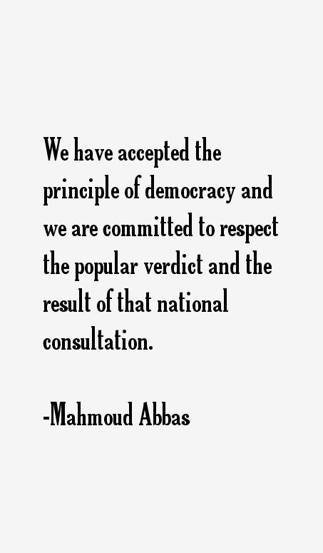 Mahmoud Abbas Quotes
