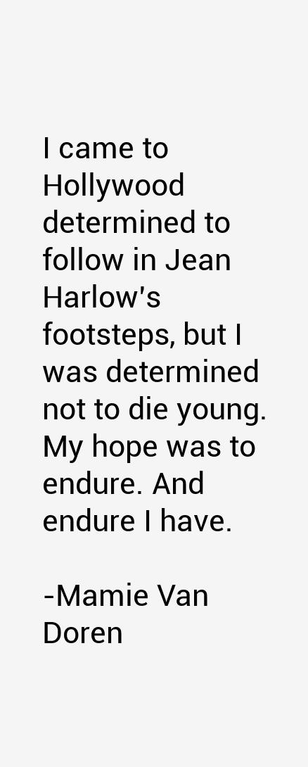 Mamie Van Doren Quotes