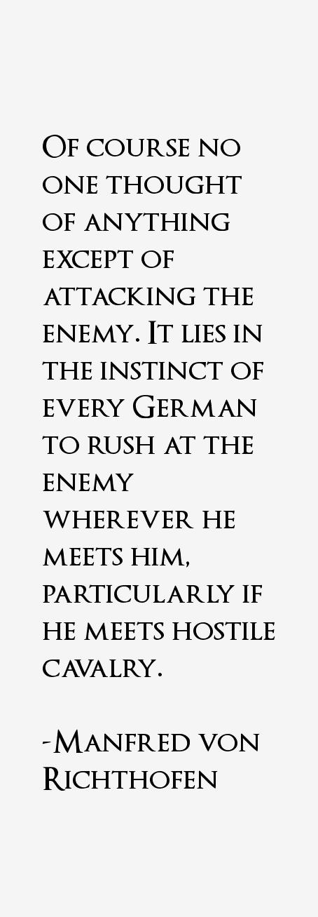 Manfred von Richthofen Quotes