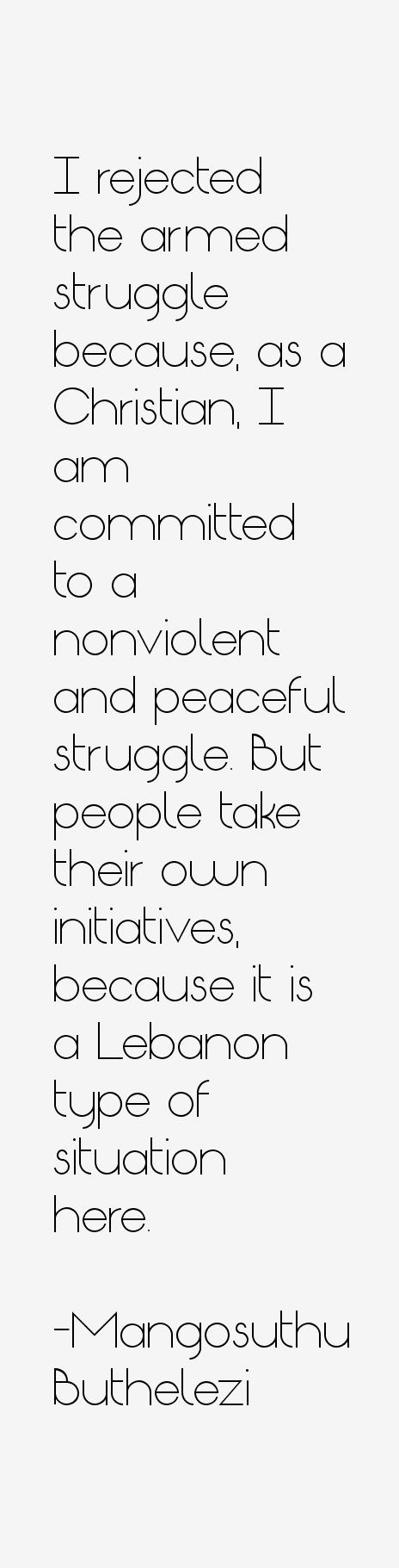 Mangosuthu Buthelezi Quotes