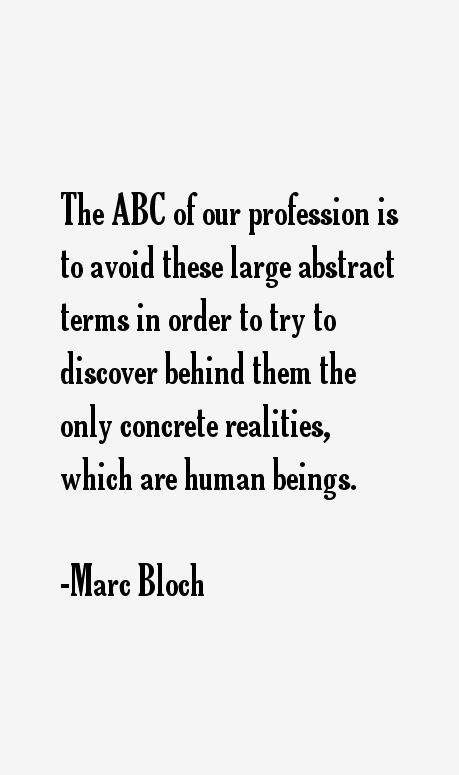 Marc Bloch Quotes