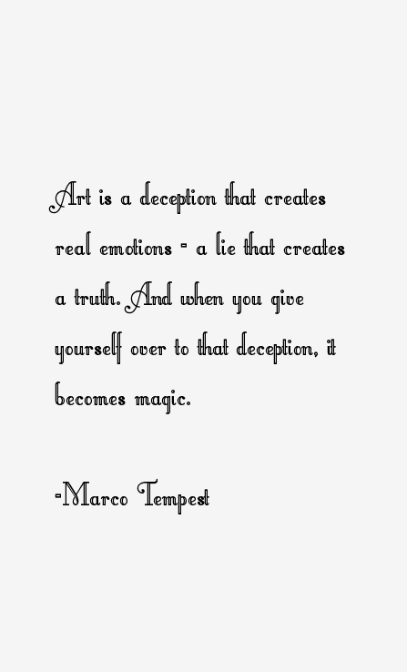 Marco Tempest Quotes