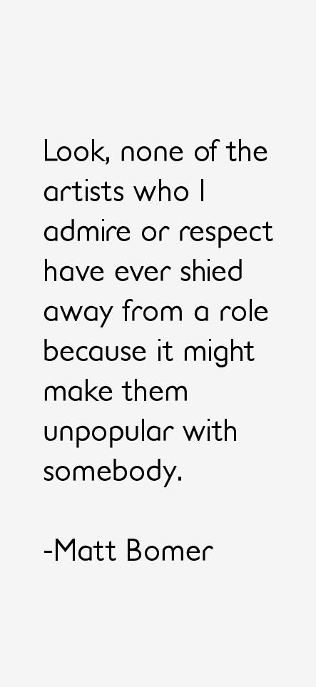 Matt Bomer Quotes