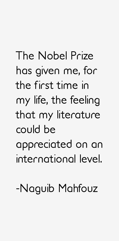 Naguib Mahfouz Quotes