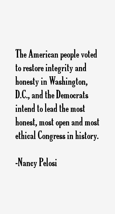 Nancy Pelosi Quotes
