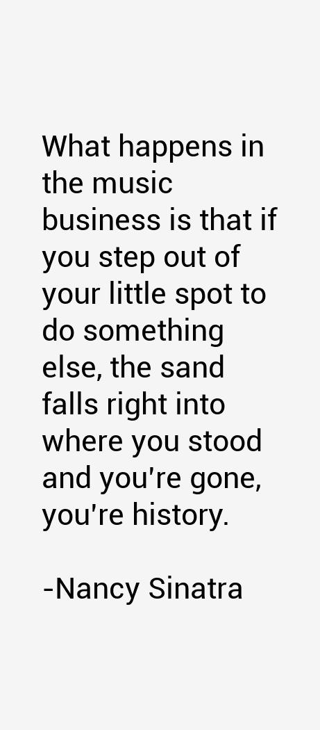 Nancy Sinatra Quotes