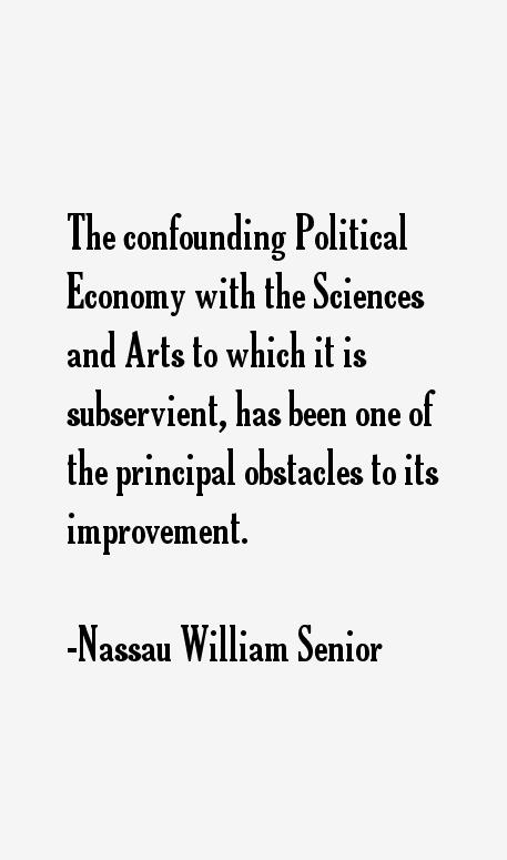 Nassau William Senior Quotes