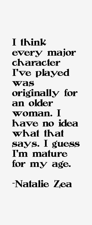 Natalie Zea Quotes