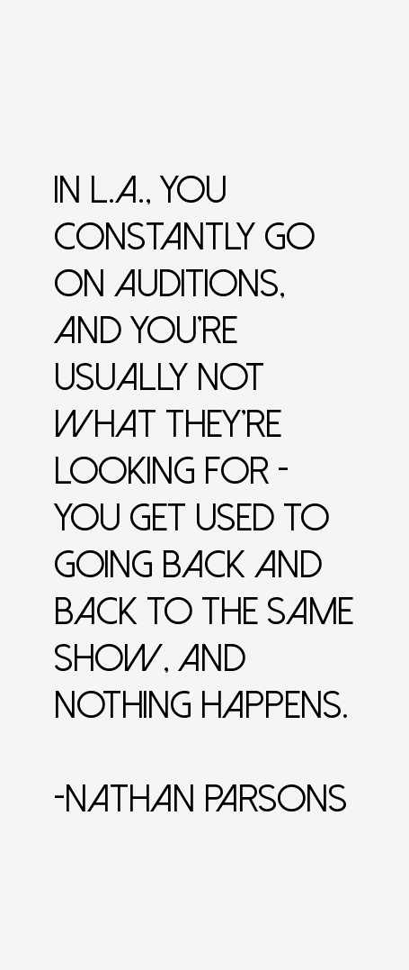 Nathan Parsons Quotes