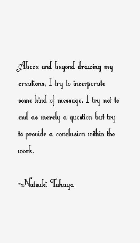 Natsuki Takaya Quotes