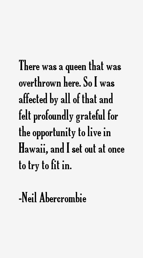 Neil Abercrombie Quotes