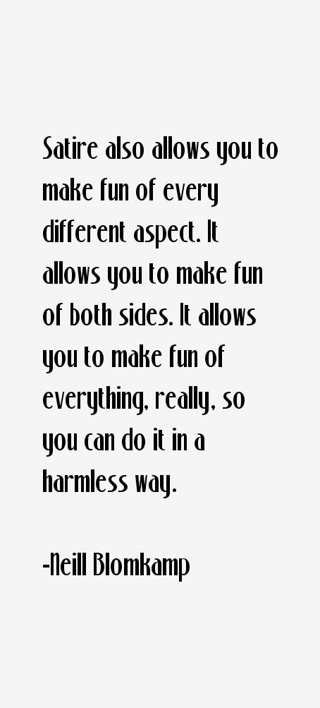 Neill Blomkamp Quotes
