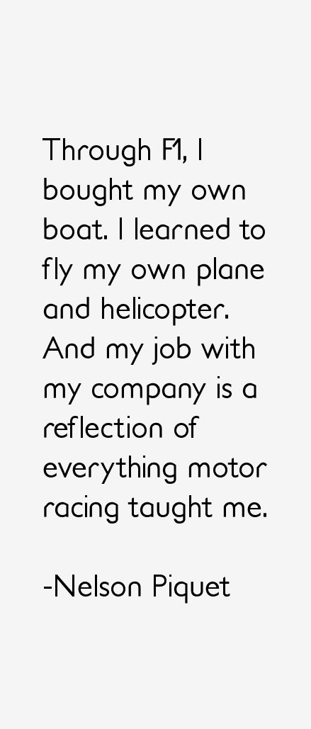 Nelson Piquet Quotes