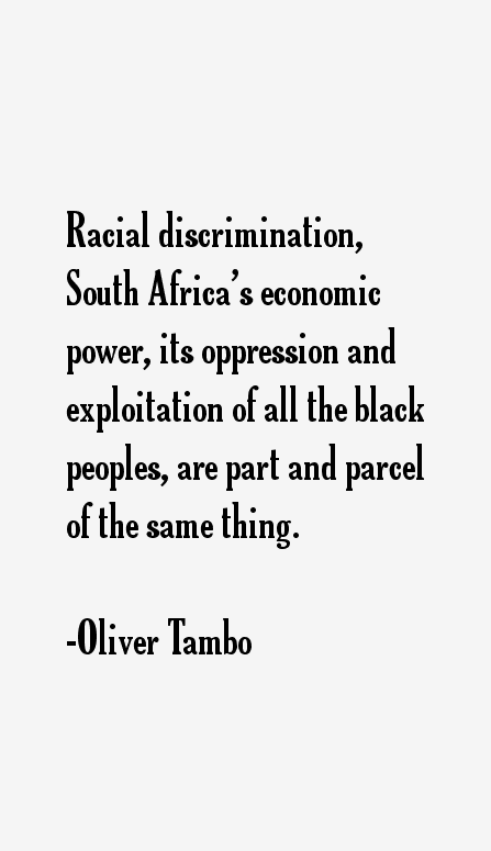 Oliver Tambo Quotes