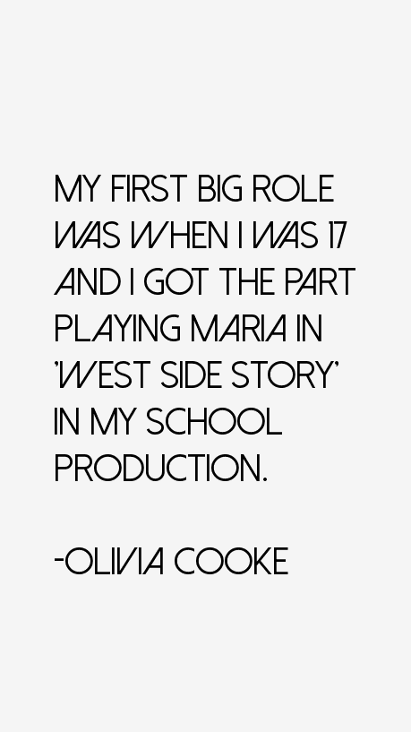 Olivia Cooke Quotes