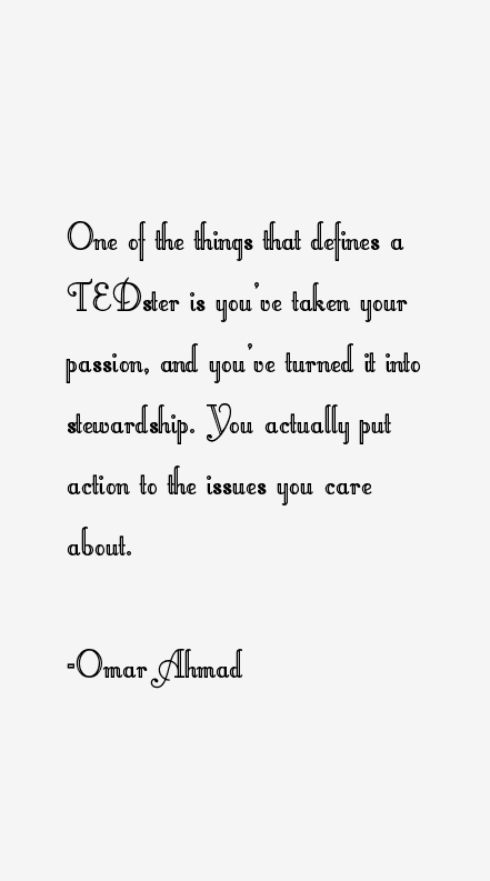 Omar Ahmad Quotes