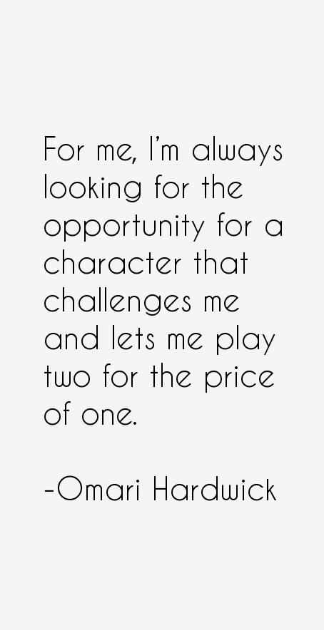 Omari Hardwick Quotes