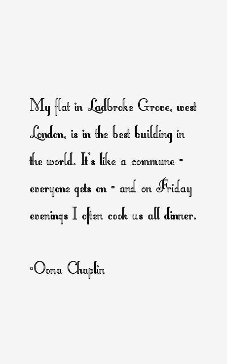 Oona Chaplin Quotes