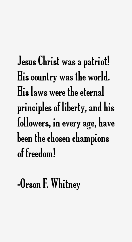 Orson F. Whitney Quotes