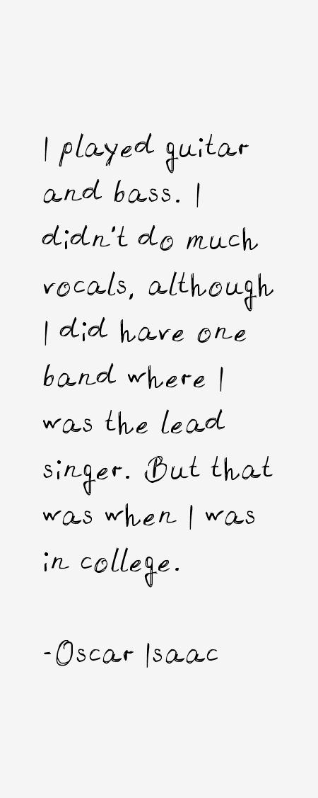 Oscar Isaac Quotes