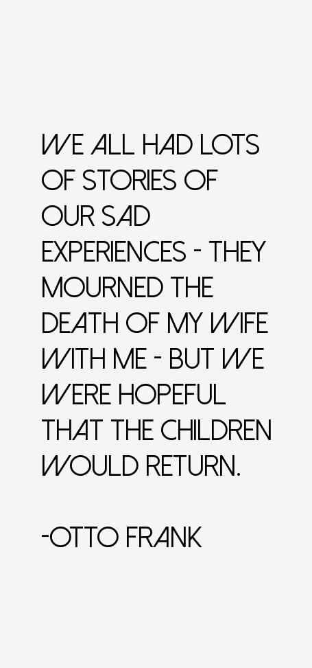 Otto Frank Quotes