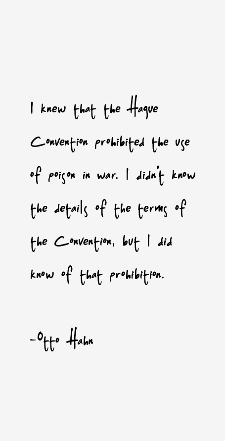Otto Hahn Quotes