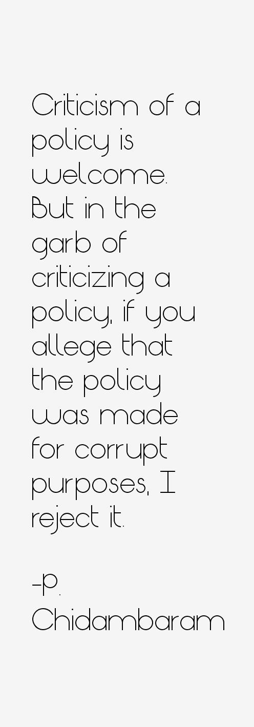 P. Chidambaram Quotes