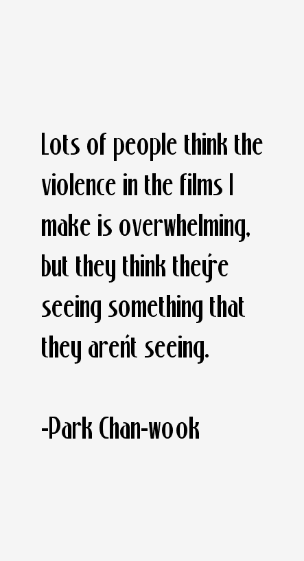 Park Chan-wook Quotes
