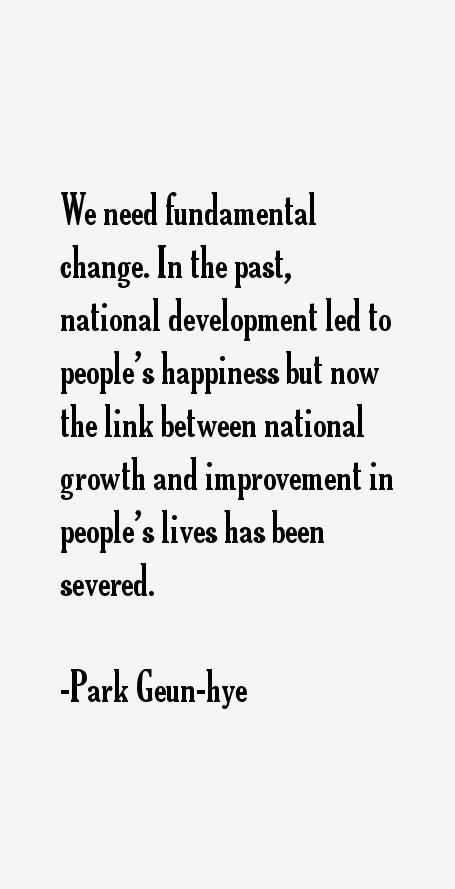 Park Geun-hye Quotes