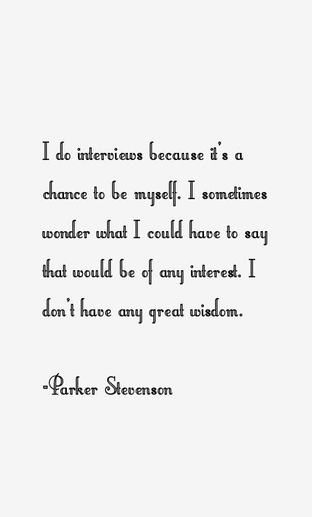 Parker Stevenson Quotes