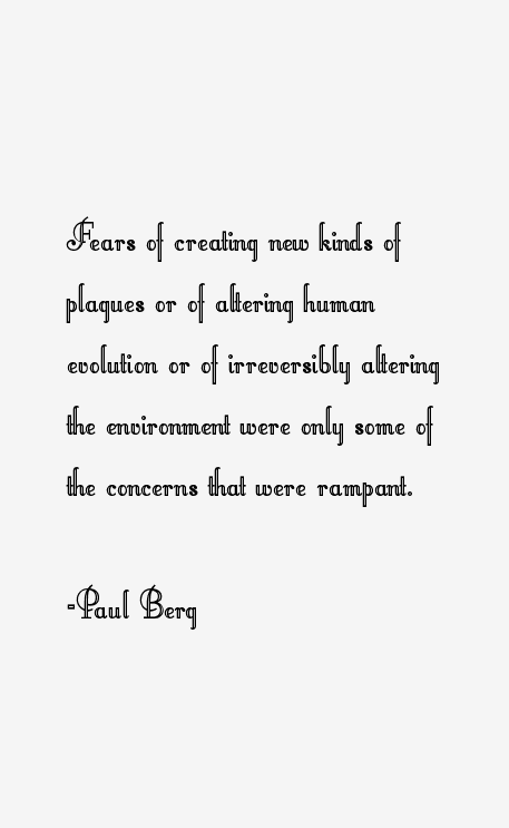 Paul Berg Quotes