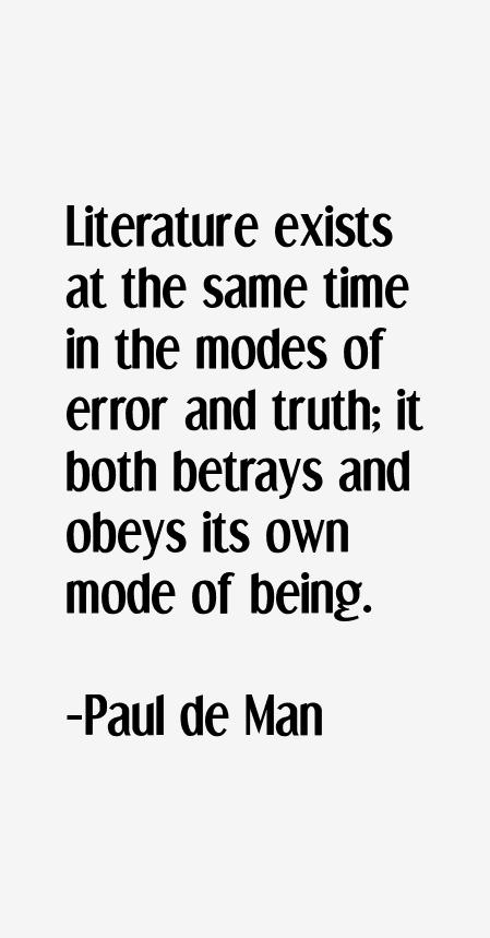 Paul de Man Quotes