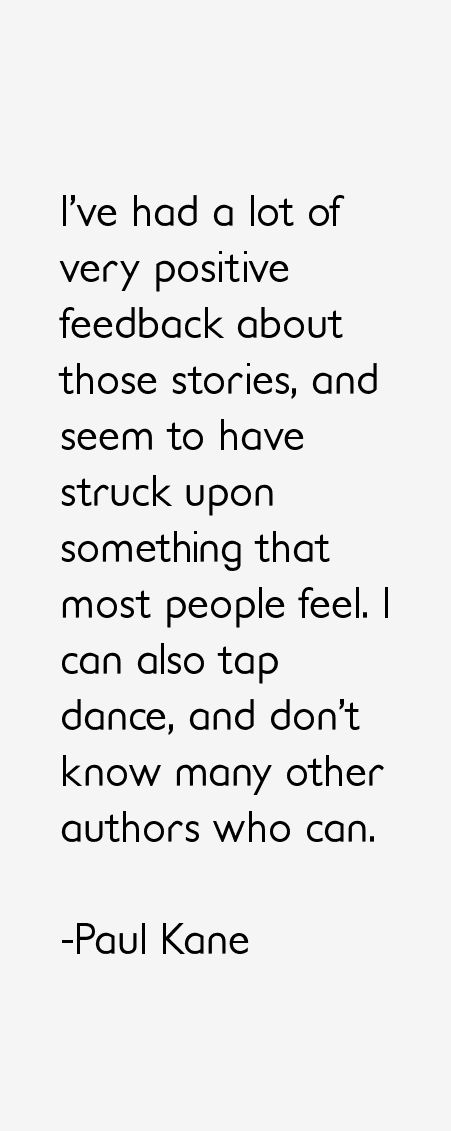 Paul Kane Quotes