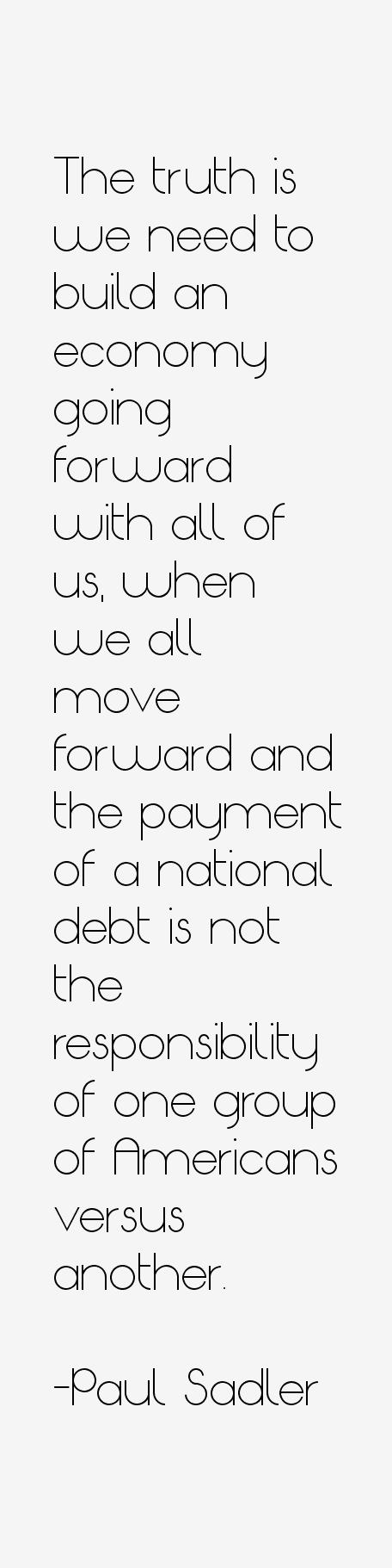 Paul Sadler Quotes