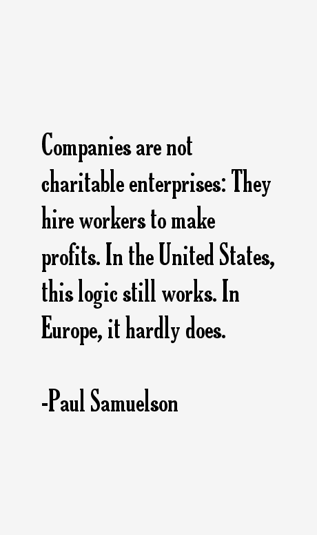 Paul Samuelson Quotes